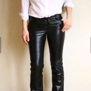 GAP Vintage Black Genuine Leather Boot Cut Jeans 2